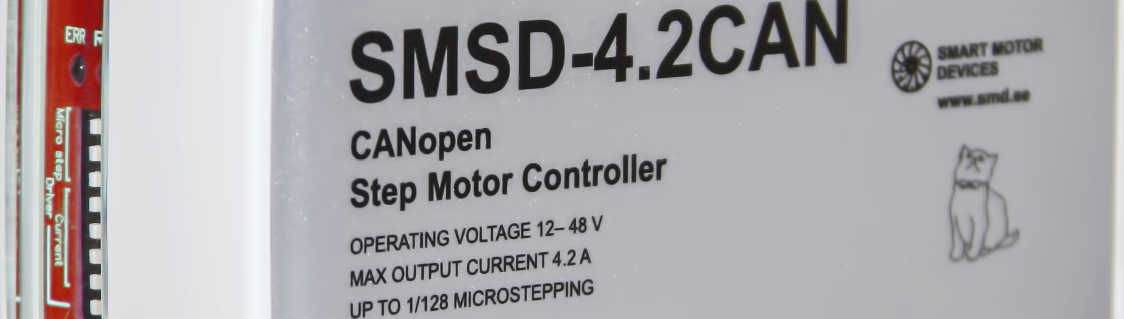 Programmable step motor controller SMSD-4.2 CANopen