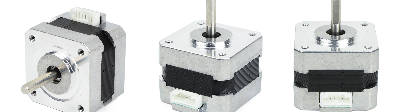 3 stepper motors - various orientations