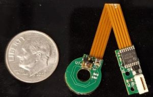 Custom rotary encoder next to coil
