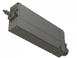 CAD model of custom SMAC linear actuator